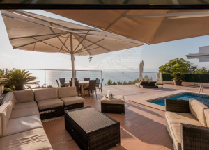 Villa to rent with panoramic sea views