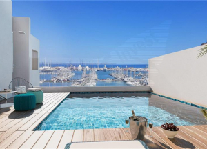 Brand new. Penthouse with solarium terrace in area Son Armadams with shared pool,